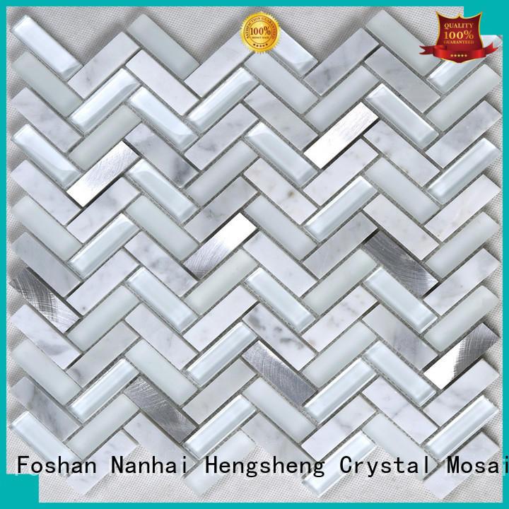 Heng Xing High-quality black glass tile backsplash supplier for villa