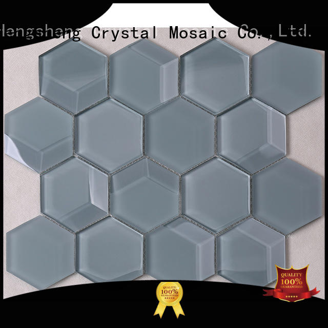 Heng Xing iridescent tiles glass mosaic factory price for hotel