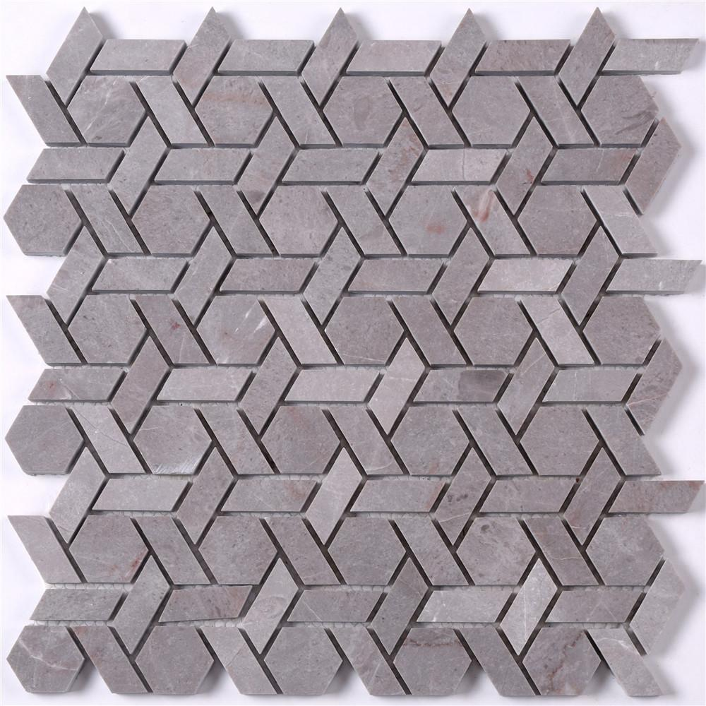2x2 glass stone mosaic tile gray manufacturers for bathroom-1