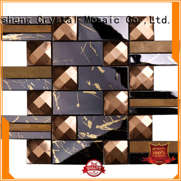 Heng Xing gold metal mosaic tile company for hotel