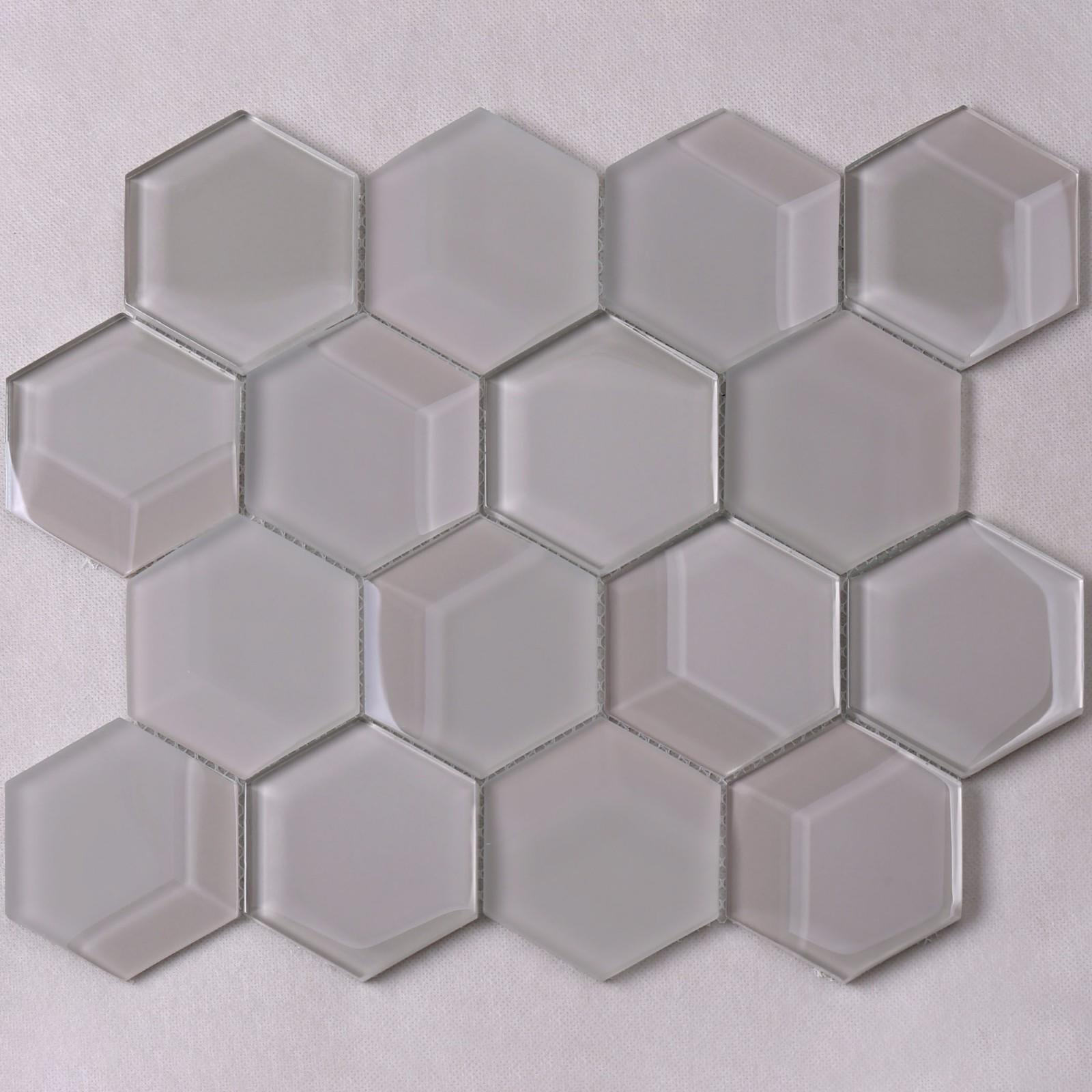 grey 3d mosaic tile splash for hotel Heng Xing-1