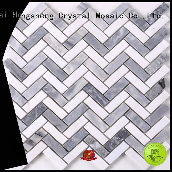 Heng Xing 2x2 gray mosaic tile backsplash manufacturers for living room