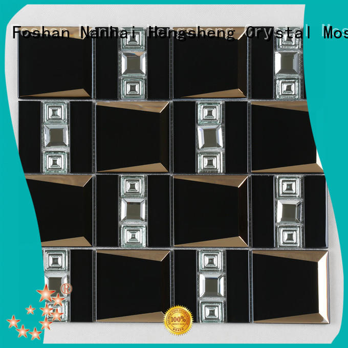 Heng Xing aluminum glass mosaic tile wholesale for kitchen