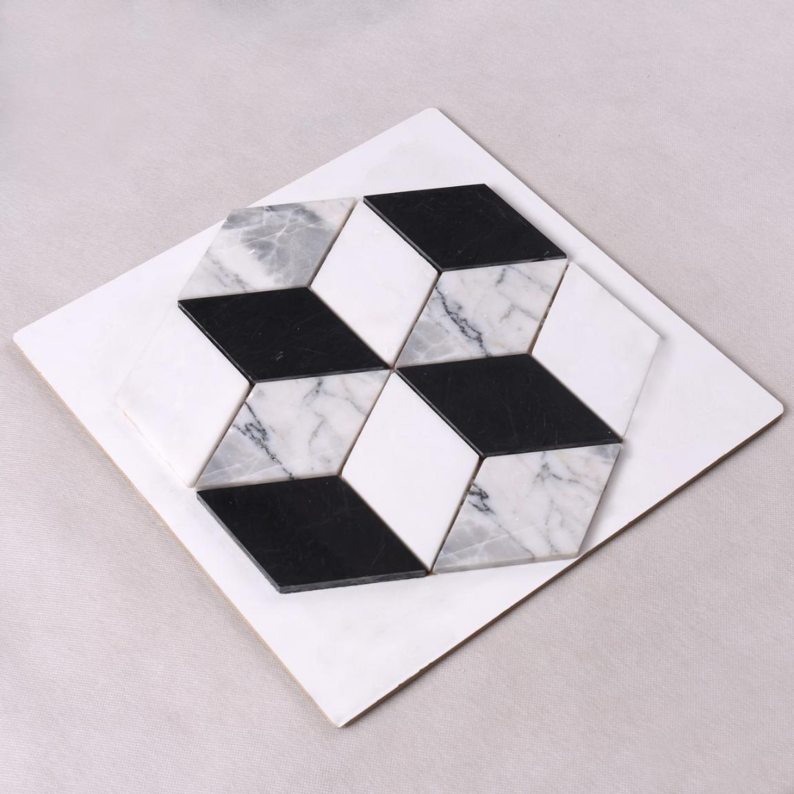 Heng Xing mosaic carrara herringbone company for backsplash-2
