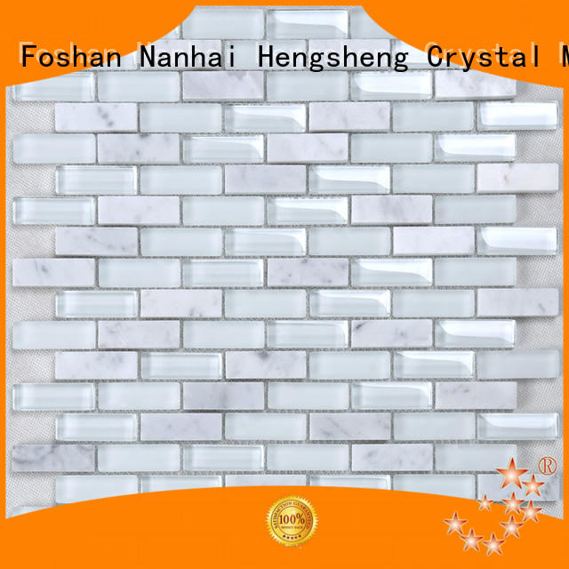 Heng Xing electroplated white ceramic tile company for hotel