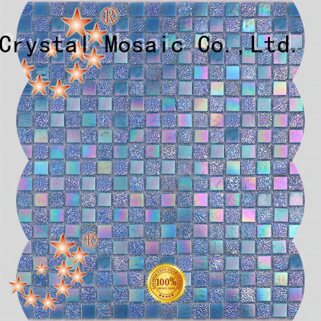 luxury aquamarine glass tile floor manufacturers for spa