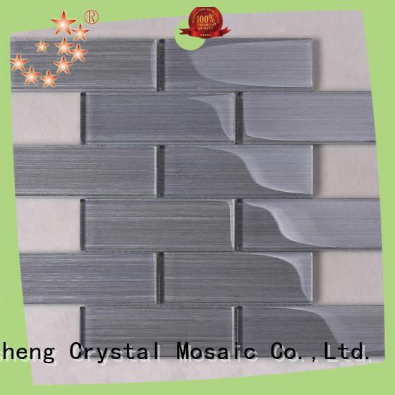 Heng Xing beveling metallic glass mosaic tile sand for hotel