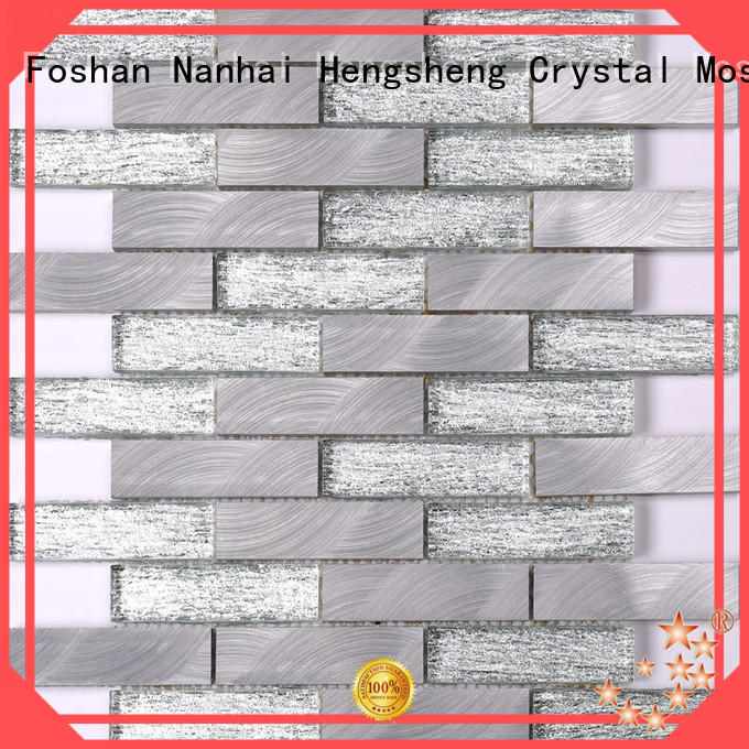 Heng Xing reliable crystal glass mosaic tiles suppliers for business for villa