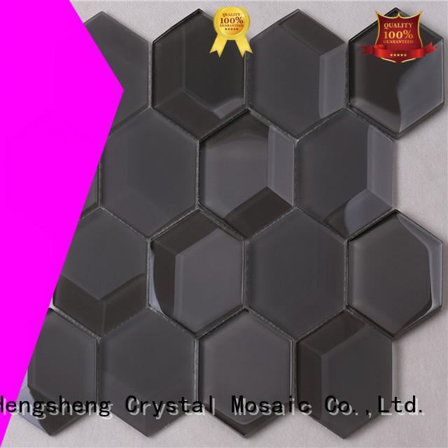 Heng Xing mixed mosaic glass Suppliers for living room