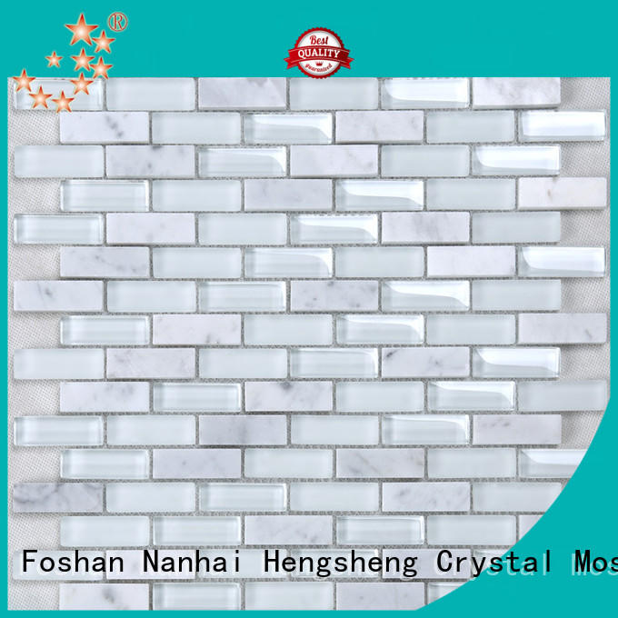 Heng Xing beige glass subway tile personalized for hotel
