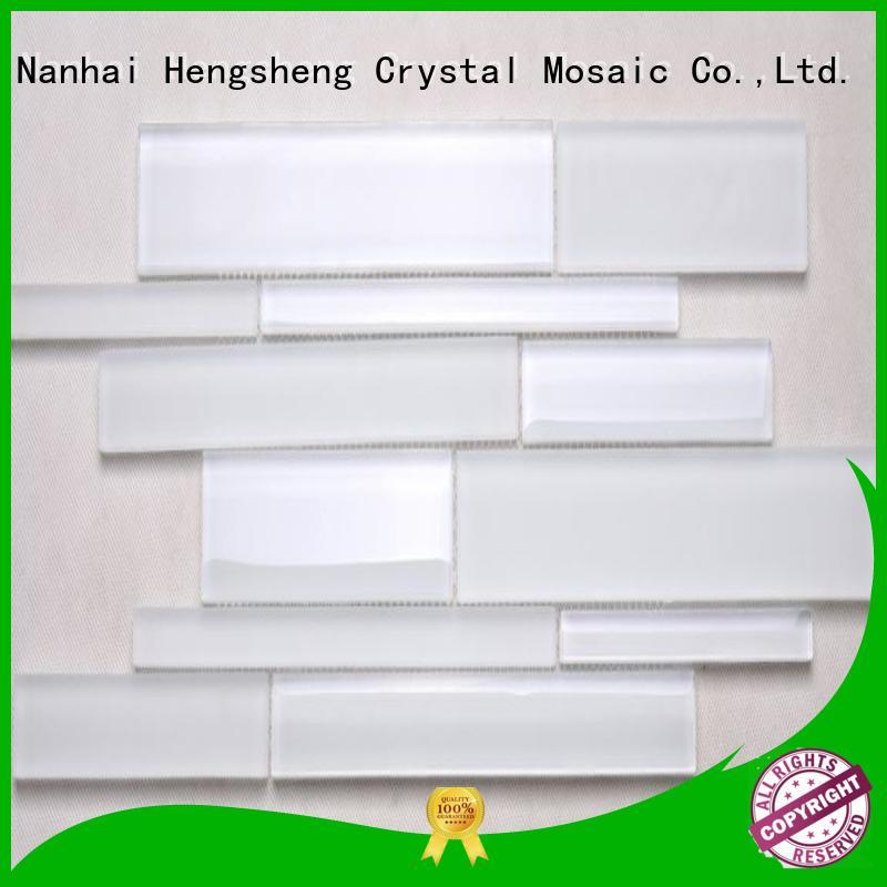 Heng Xing square glass mosaic backsplash wholesale for villa