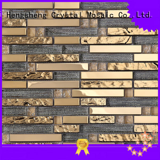 Heng Xing 3x3 linear glass tile Supply for bathroom