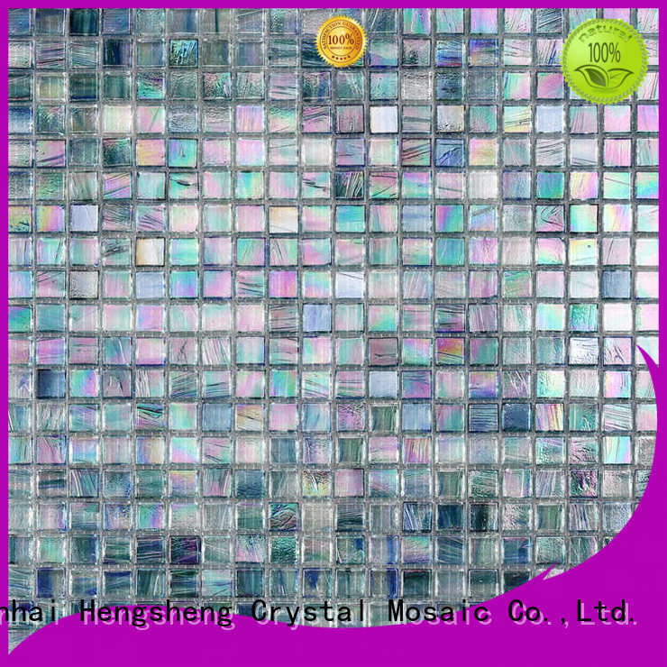 Heng Xing hand cutting glass mosaic tile Suppliers for swimming pool