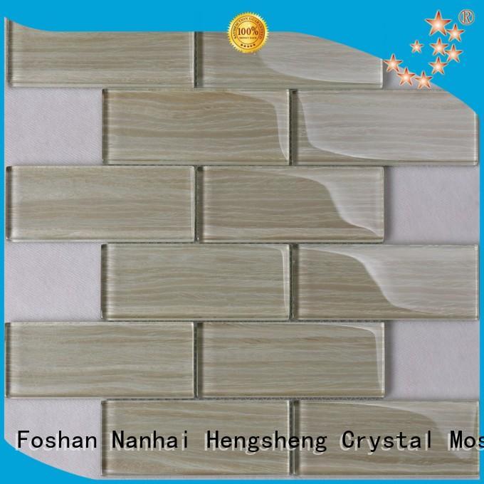 Heng Xing rose glass subway tile backsplash factory price for living room