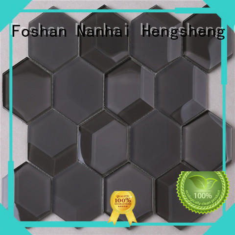 Heng Xing 3x4 glass metal tile supplier for kitchen