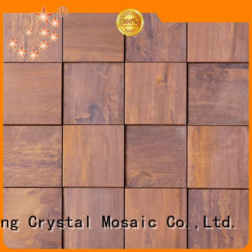 Heng Xing brown marble mosaic tile manufacturers for hotel