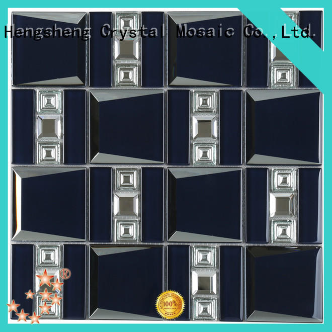 Heng Xing alloy black slate mosaic tile factory price for hotel