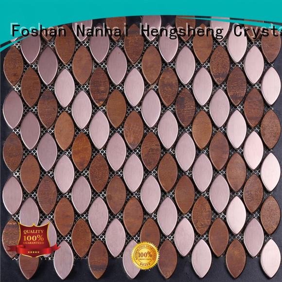 Heng Xing rose brown glass mosaic tile factory for restuarant