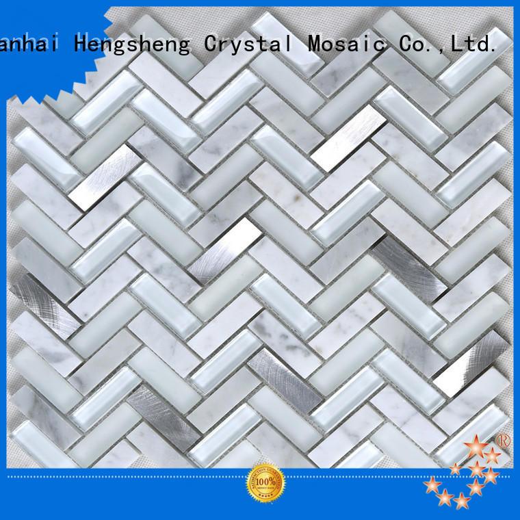 beveled black glass tile white supplier for kitchen