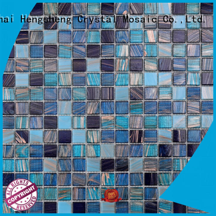 Heng Xing swimming glass pool tile factory price for fountain