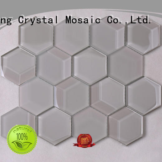 grey 3d mosaic tile splash for hotel Heng Xing