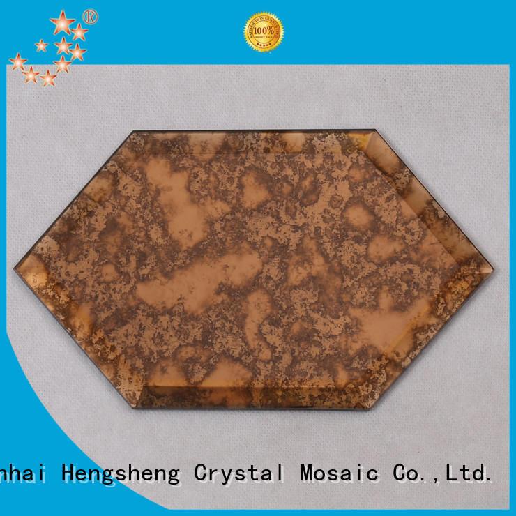 interlock iridescent glass tile hexagon for bathroom Heng Xing
