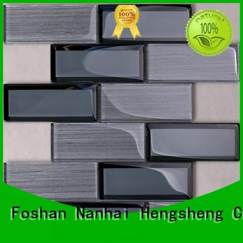 Best Price Strip Pattern Glass Mosaic Beveled Wall Backsplash