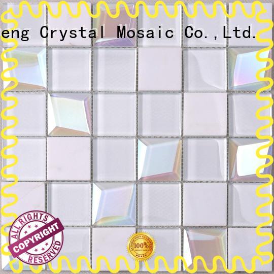 beveled mosaic glass blast company for kitchen