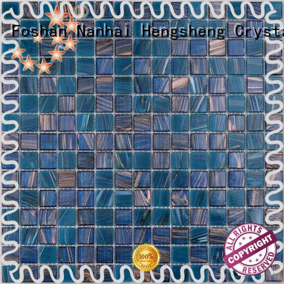 Heng Xing light cobalt blue pool tile Suppliers for bathroom