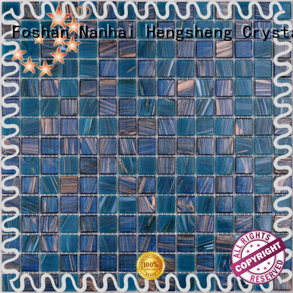Heng Xing light cobalt blue pool tile Suppliers for bathroom
