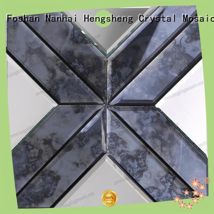 Heng Xing white tumbled stone backsplash tiles Suppliers for kitchen