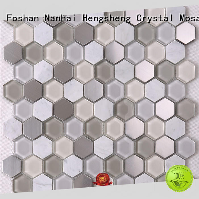 Heng Xing beveling mosaic floor tiles Supply for villa