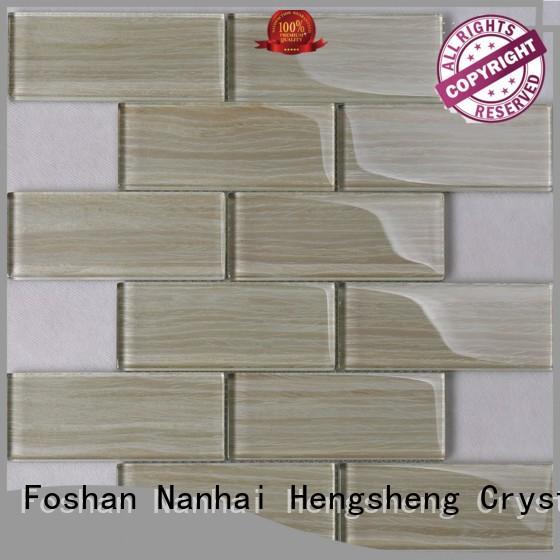 white glass tile resin for bathroom Heng Xing