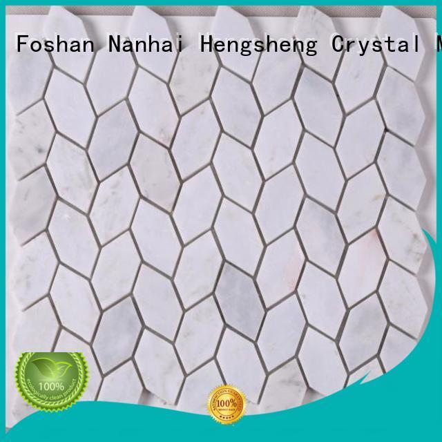 Heng Xing flower wood mosaic tile design for villa