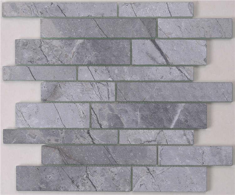Heng Xing white gray glass subway tile backsplash for business-1