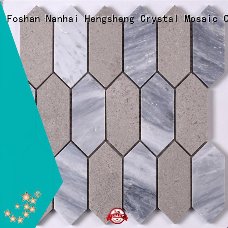 Heng Xing Carrara carrara hexagon tile for business for living room