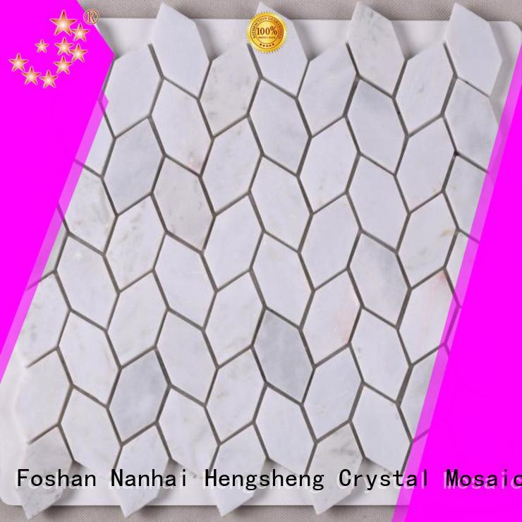 Heng Xing marble natural stone mosaic tiles hexagon for backsplash