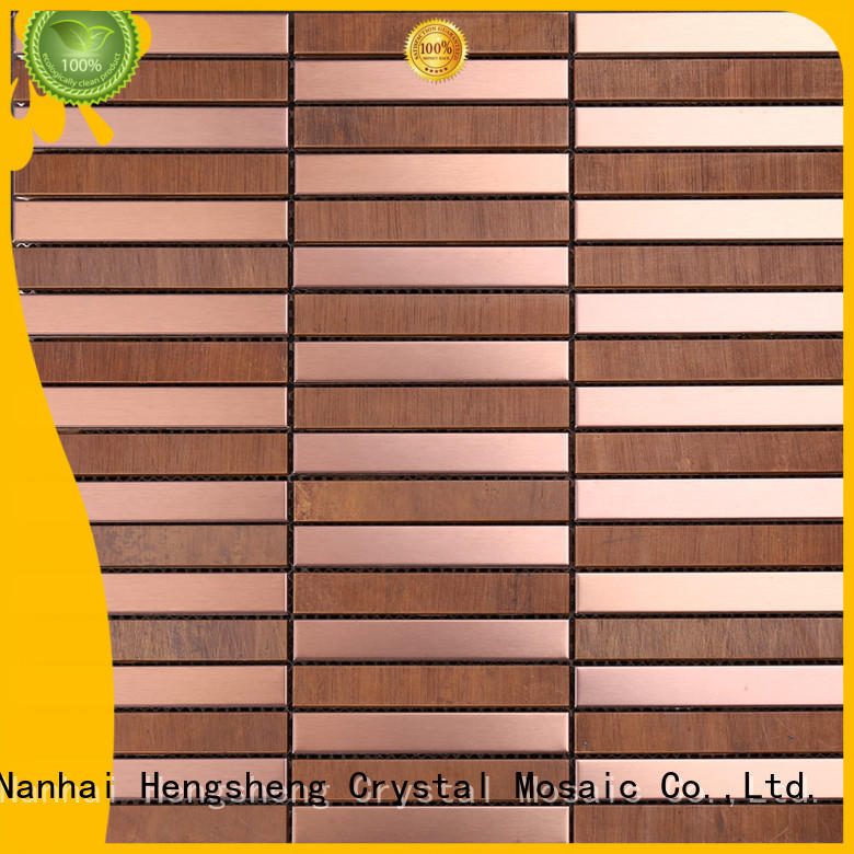 Heng Xing white mosaic glass suppliers Suppliers for backsplash