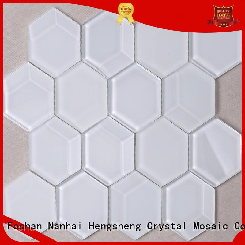 Heng Xing herringbone glass metal tile personalized for kitchen