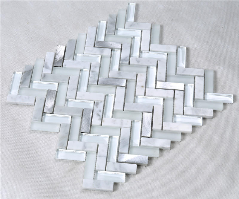 Heng Xing 3x3 white glass tile factory price for hotel-2