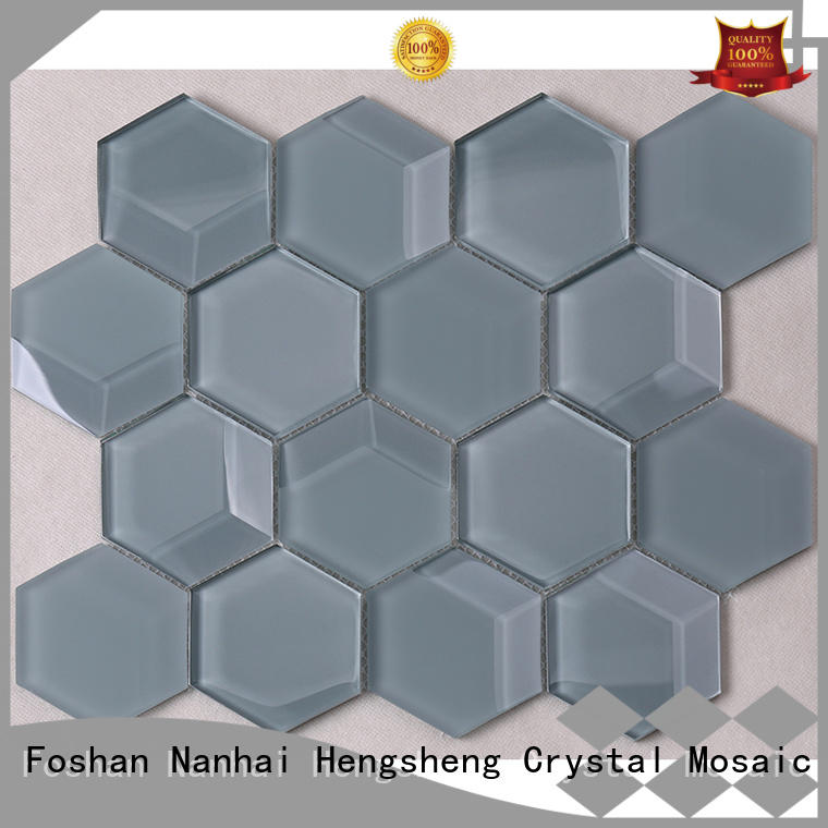 Heng Xing square hexagon mosaic tile wholesale for living room