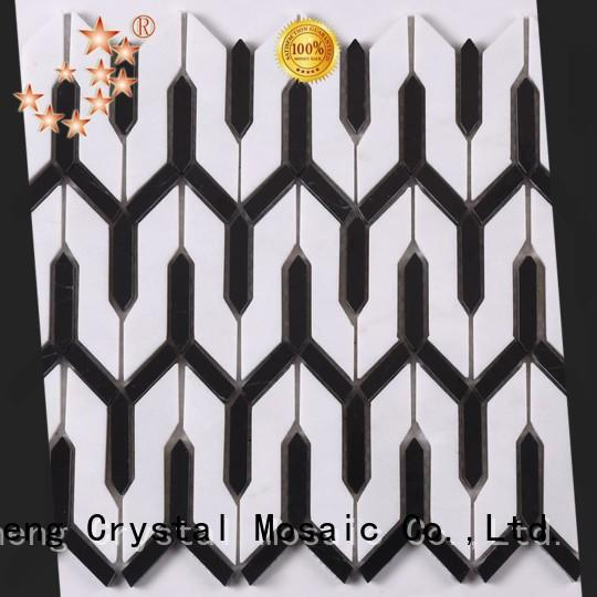 Heng Xing flower slate mosaic tile with good price for kitchen