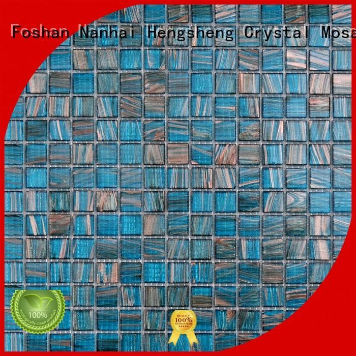 Heng Xing light mosaic effect tiles factory for fountain