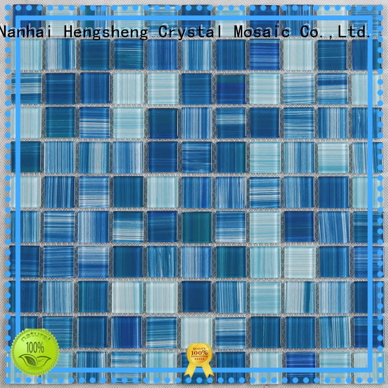 Best mosaic tile sheets green Supply for swimming pool