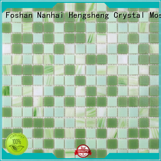 Heng Xing Custom recycled glass mosaic tiles wholesale for fountain