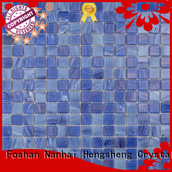 Heng Xing ceramic glass pool tile supplier for spa