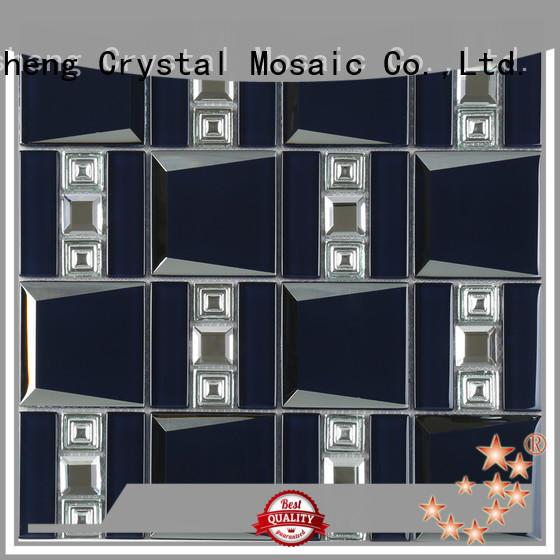 Heng Xing metal glass mosaic tile backsplash factory price for villa