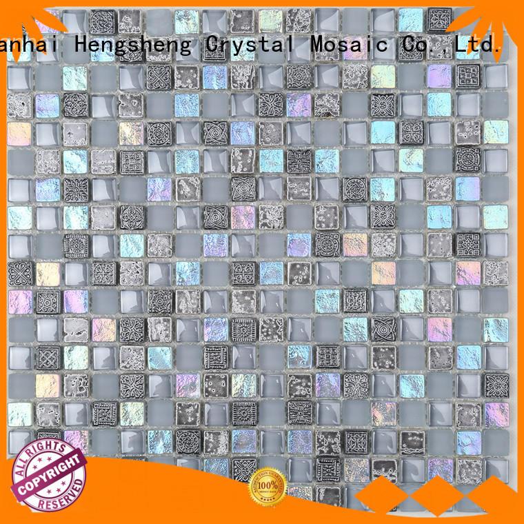 Heng Xing beveling seashell mosaic company for hotel