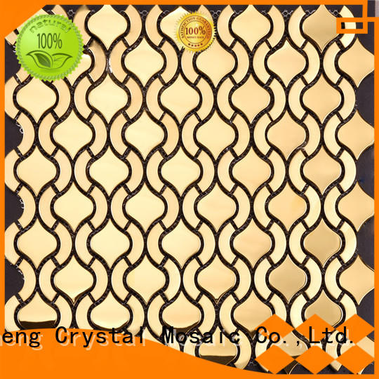 Heng Xing 3x6 brown glass mosaic tile from China for hotel