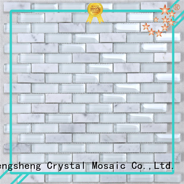 Heng Xing trapezoid sea glass tile wholesale for kitchen